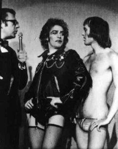 Frank n'Furter et Rocky sur scène en 1973