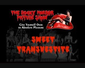 Image de Frank N' Furter sur la bouche du Rocky Horror
