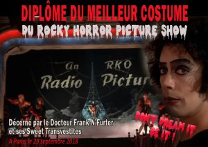 Concours de costumes RHPS par les Sweet Transvestites